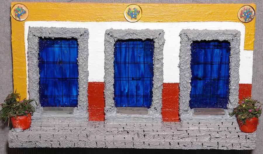 Aztec Door Painting
