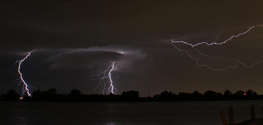 Lightning Photograph - Triple Threat by Alexander Spahn