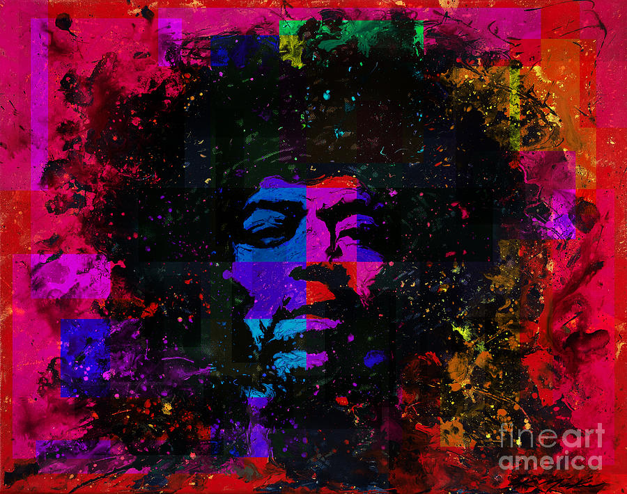 Jimi Hendrix Painting - Tripping With Hendrix by Chris Mackie