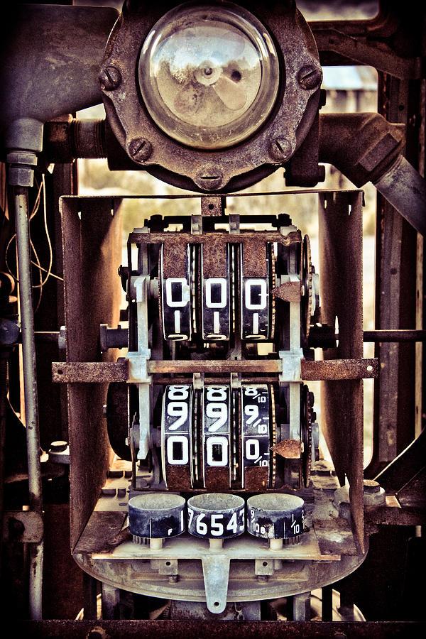 Gas Pump Photograph - Tripple Zero by Merrick Imagery