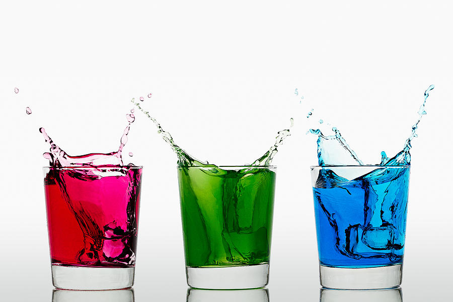 Alcohol Photograph - Triptych - Rgb by Gert Lavsen