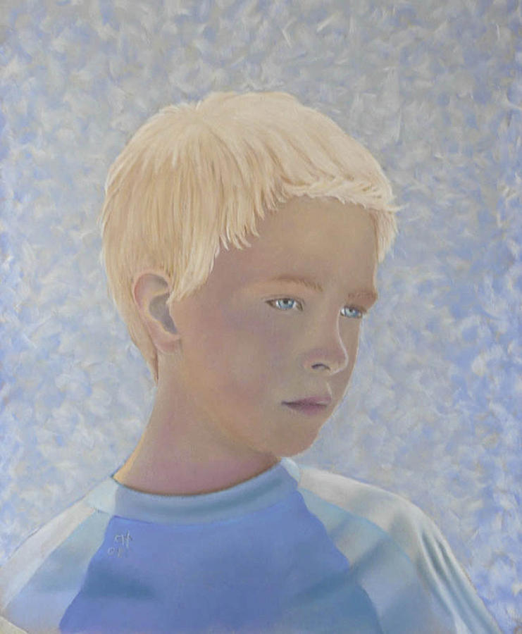 Children Painting - Tristan by Charles Hubbard