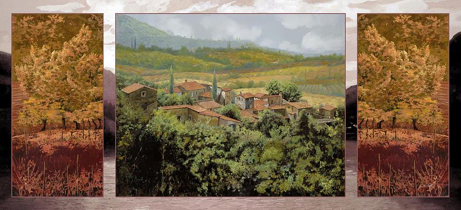 Landscape Painting - Trittico-il Prossimo Autunno by Guido Borelli