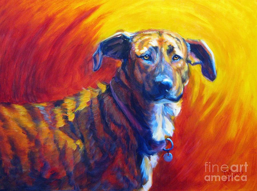 Dog Painting - Trixie by Pat Burns
