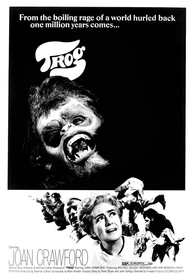 Caveman Photograph - Trog, Joe Cornelius, Joan Crawford, 1970 by Everett