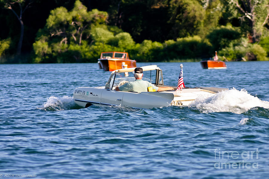Amphicar Photograph - Trolling by Mitch Shindelbower