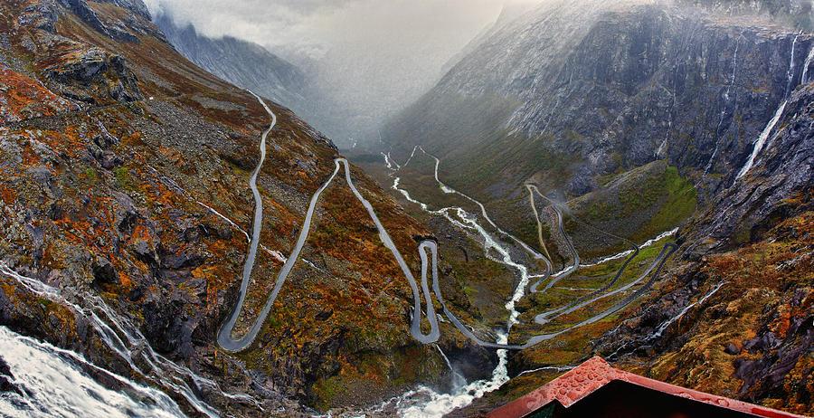 Rain Photograph - Trollstigen by A A