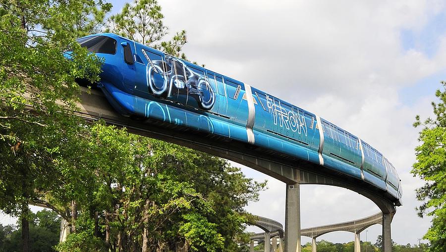Monorail Photograph - Tron A Rail by David Lee Thompson