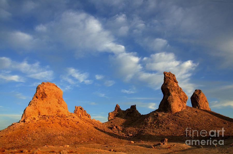 Trona Photograph - Trona Pinnacles Golden Hour by Bob Christopher