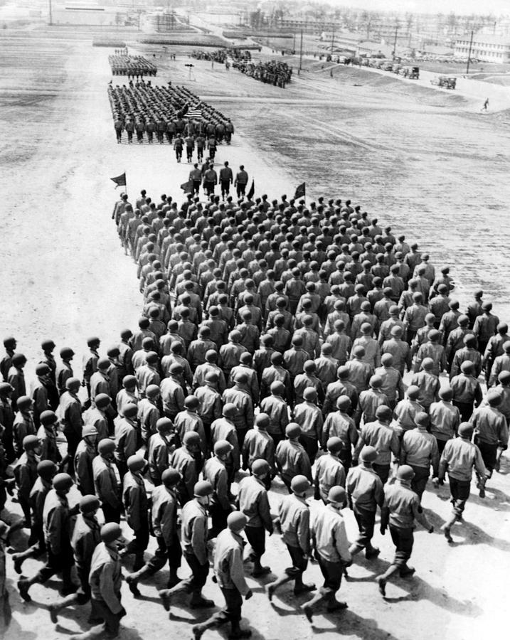 1940s Photograph - Troops Of The New 75th Infantry by Everett