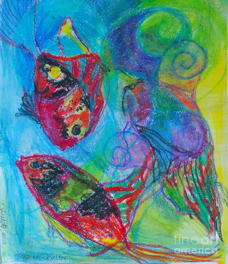 Ocean Life Painting - Tropical Ballet II by Claudia Smaletz
