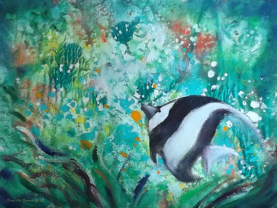 Tropical Fish Painting By Gina De Gorna