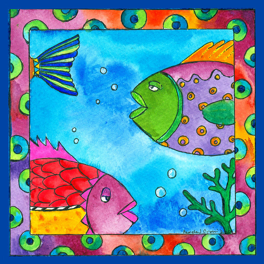 tropical fish painting by pamela corwin