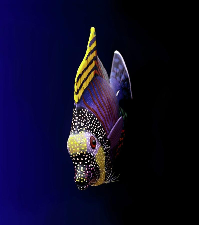 Vertical Photograph - Tropical Fish by Pieceoflace Photography
