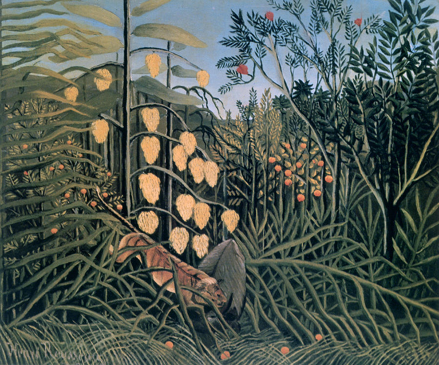 Horizontal Photograph - tropical Forest By Henri Rousseau by Photos.com