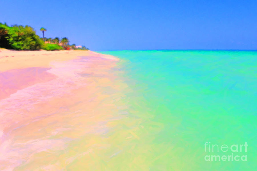 Tropical Island Photograph - Tropical Island 7 - Painterly by Wingsdomain Art and Photography