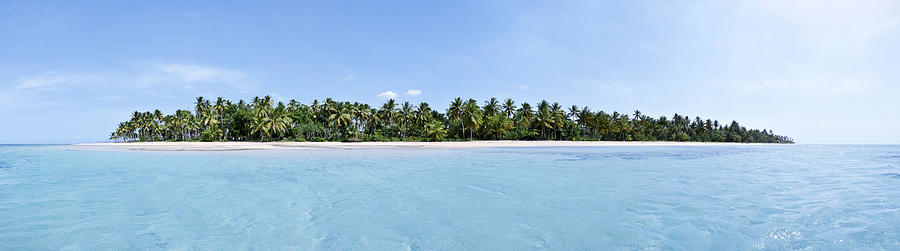 Afternoon Photograph - Tropical Island Floating Over Turquoise Water by Sebastien Coursol