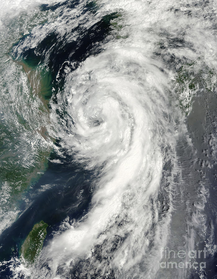 Natural Disasters Photograph - Tropical Storm Dianmu by Stocktrek Images