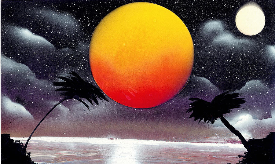 Landscape Painting - Tropical Sunset by Marc Chambers