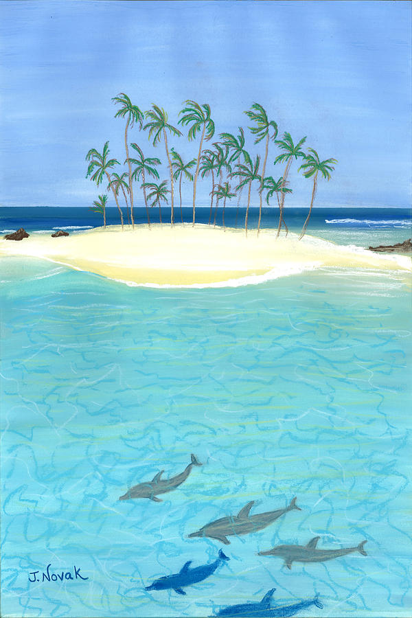 Seascape Painting - Tropical Tranquility  by Jackie Novak