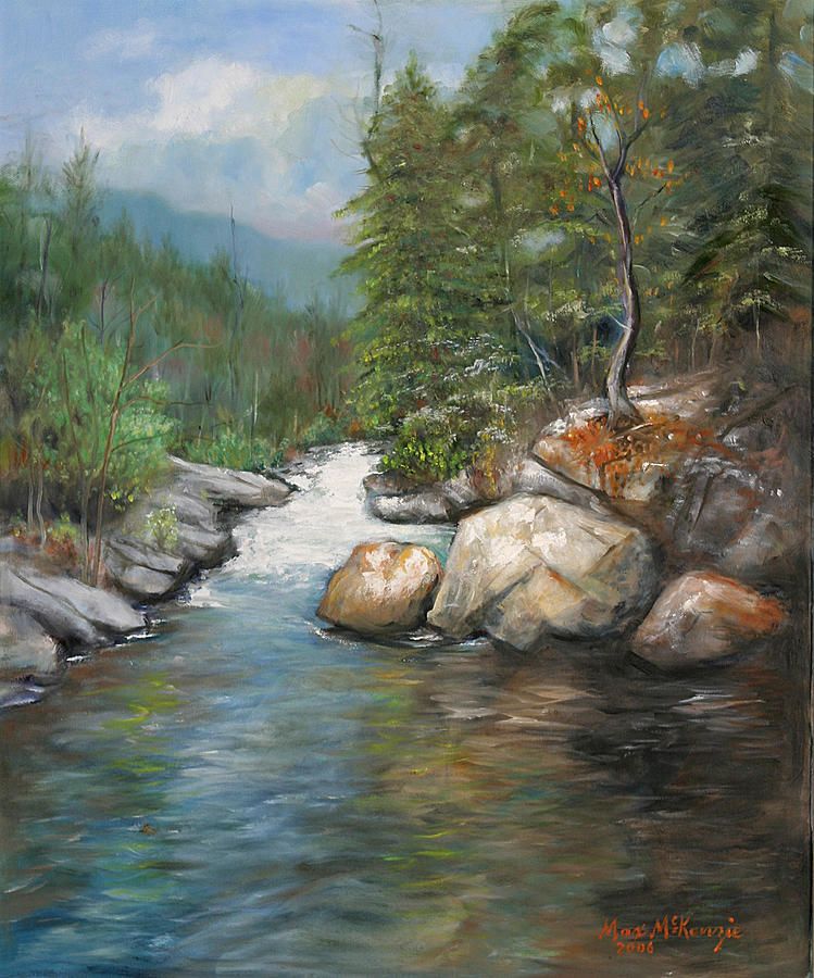 River Painting - Trout Stream by Max Mckenzie