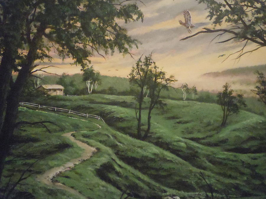 Landscape Painting - Troy Hill Farm by James Guentner