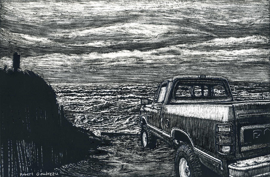 Truck Painting - Truck at Nantucket by Robert Goudreau
