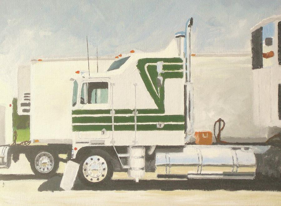 Trucks Painting - Truck Show 1986 by Chad Atkins
