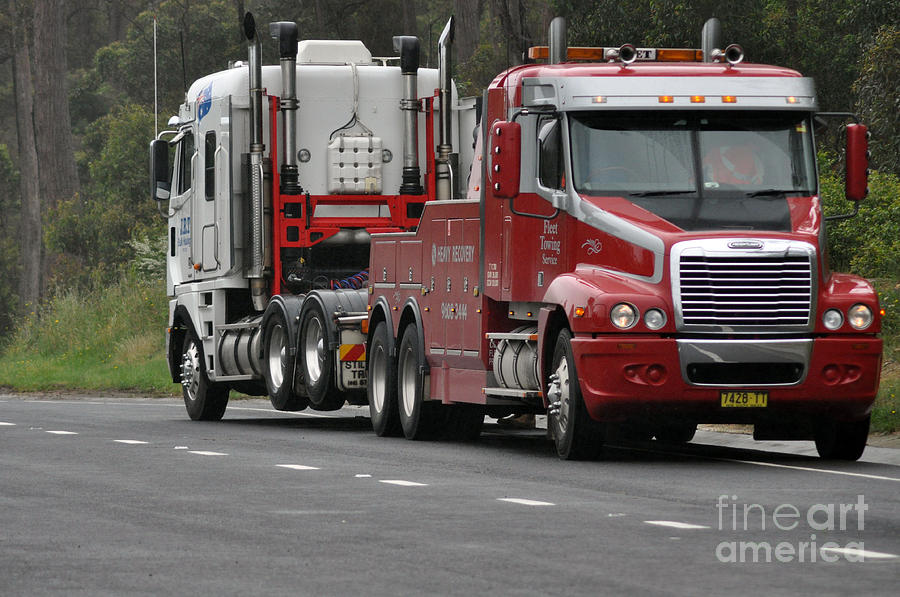 Truck Photograph - Truck Tow by Joanne Kocwin