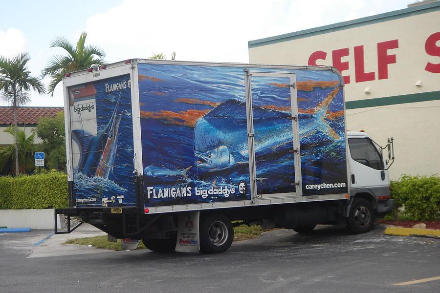 Flanigans Digital Art - Truck Wraps by Carey Chen
