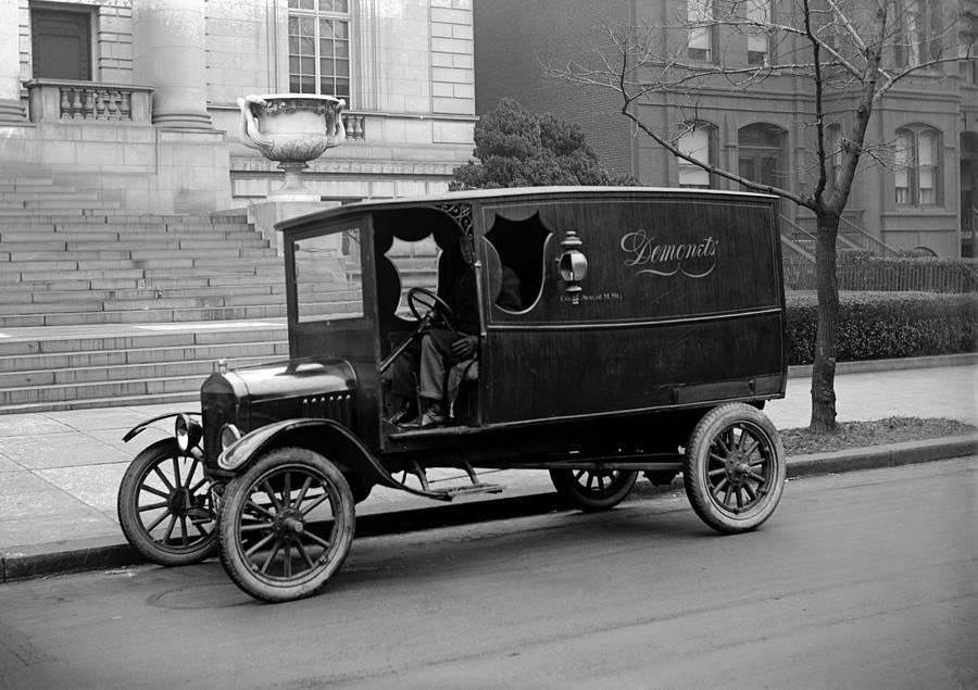 1920s Photograph - Trucks. Dermonets Ford Delivery Truck by Everett