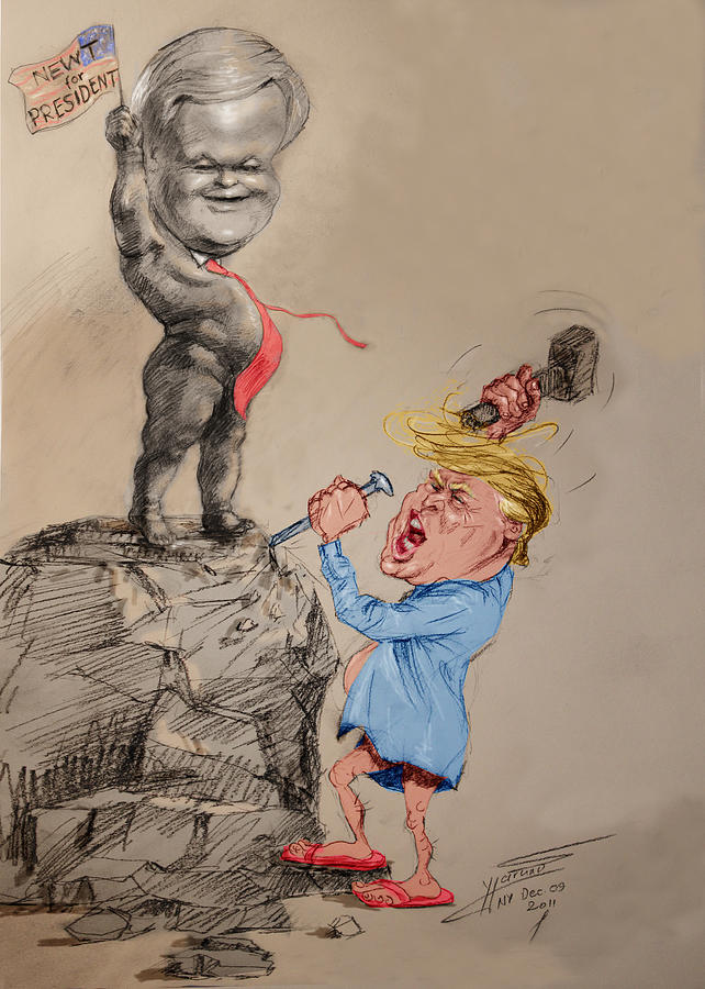 Donald Trump Drawing - Trump Shaping Up the Future by Ylli Haruni