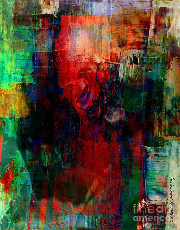 Fania Simon Painting - Truth About Famine by Fania Simon