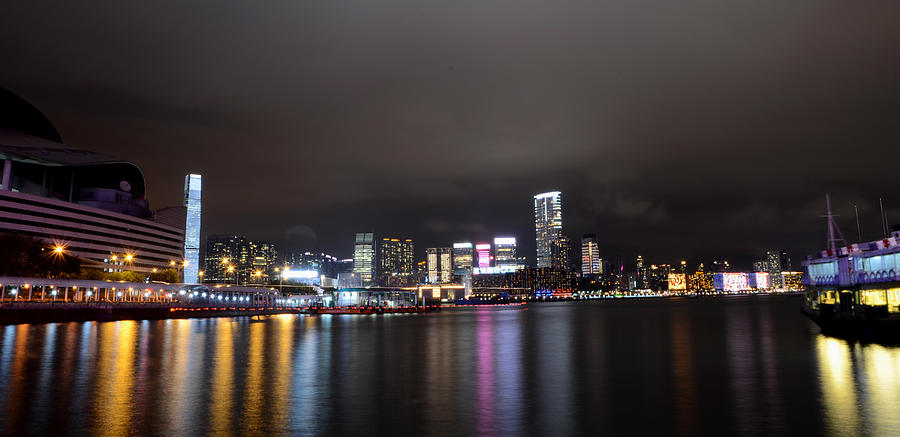 Kowloon Photograph - Tsim Sha Tsui - Kowloon At Night by Enrique Rueda