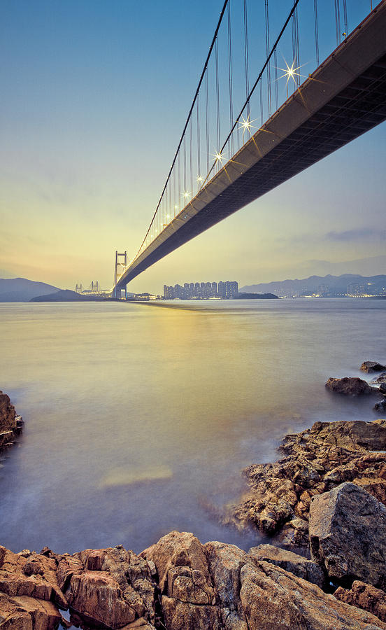 Vertical Photograph - Tsing Ma Bridge by Andi Andreas