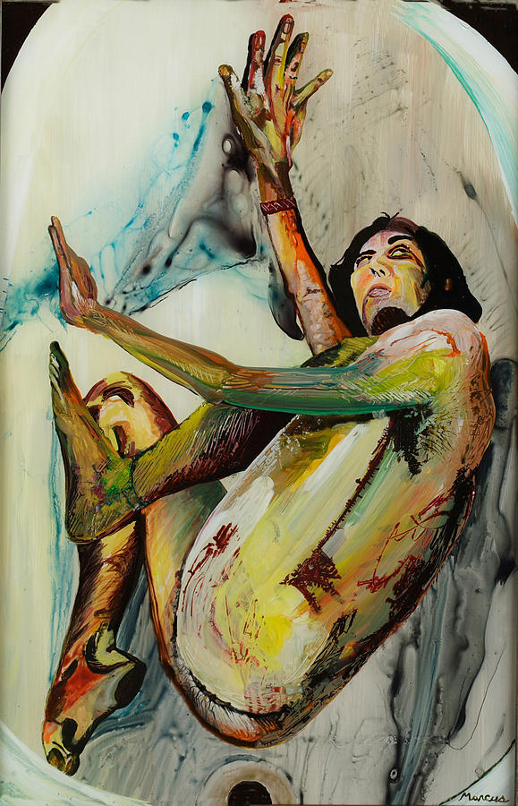 Tub Girl Painting by Lucia Marcus