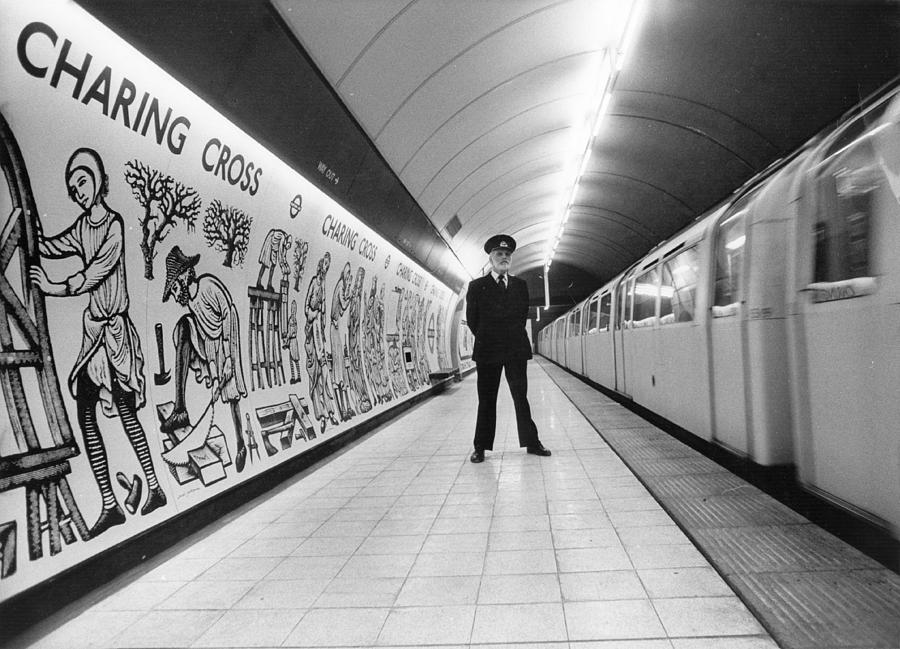 Mature Adult Photograph - Tube Train Murals by Evening Standard