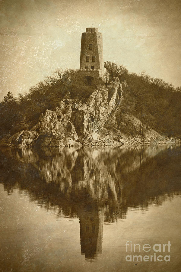 Sepia Photograph - Tucker Tower In Sepia by Royce  Gideon