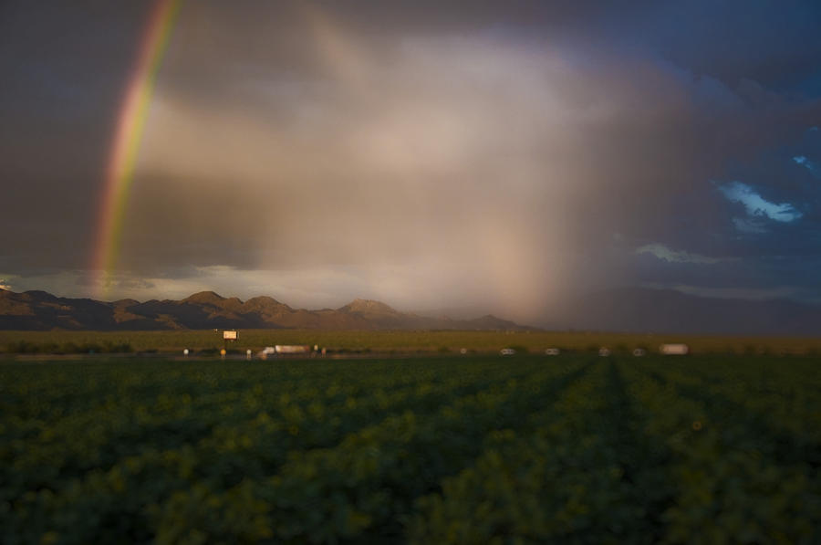 Rainbow Photograph - Tucsons Promise by Keith Sanders