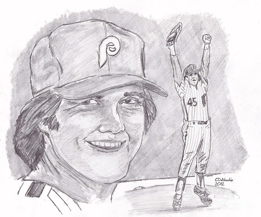 Phillies Drawing - Tug Mcgraw by Chris  DelVecchio