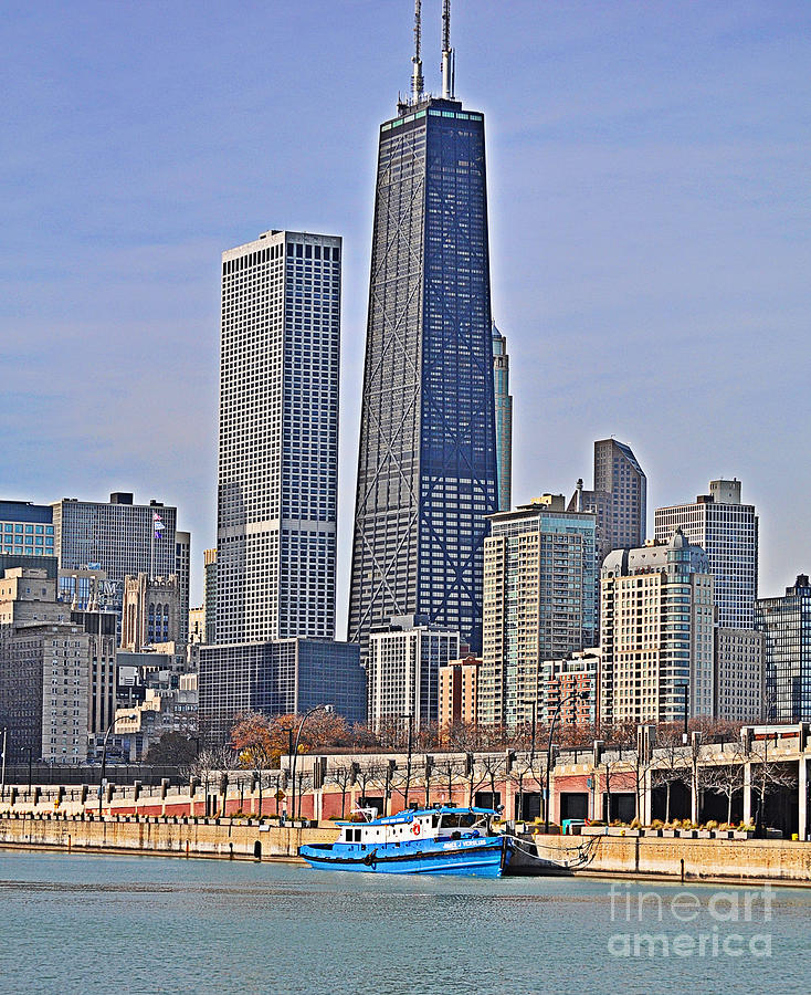 Tug Boat Photograph - Tugboat On The Chicago River by Mary Machare