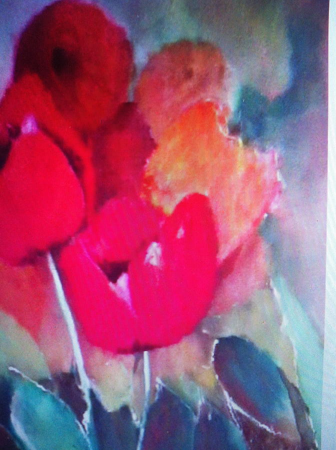 Flower Painting - Tulip by Giti Ala