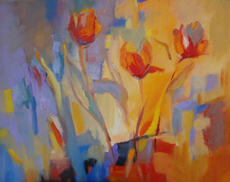 Flower Painting - Tulip Song by Marty Husted
