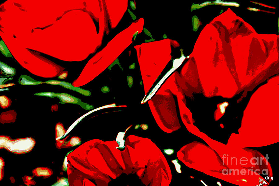 Red Photograph - Tulip Tango by Diane montana Jansson