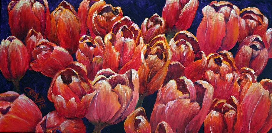 Tulips Painting - Tulips by Connie Beattie