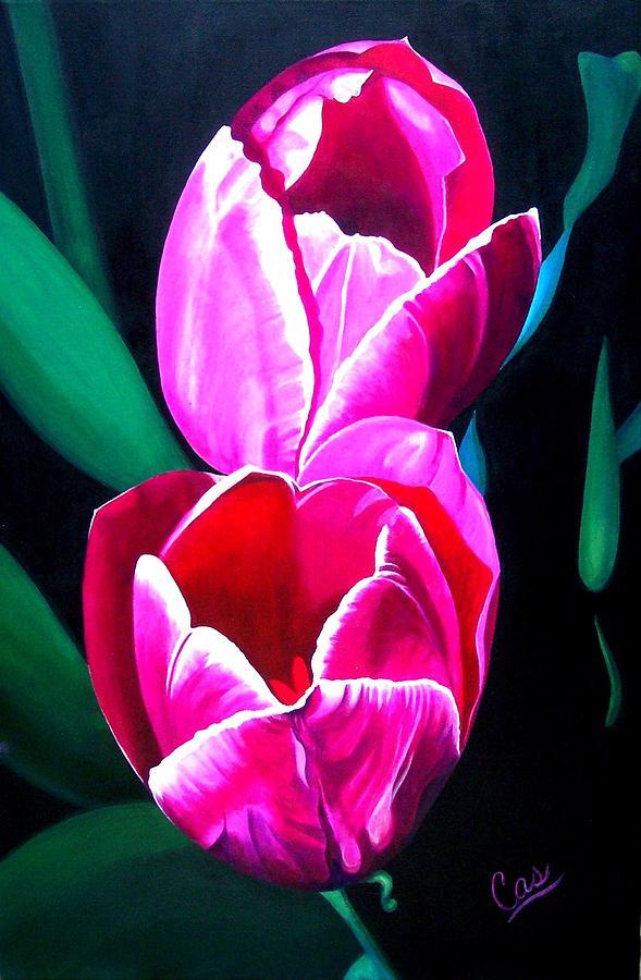 Tulips Painting - Tulips by Karen Casciani