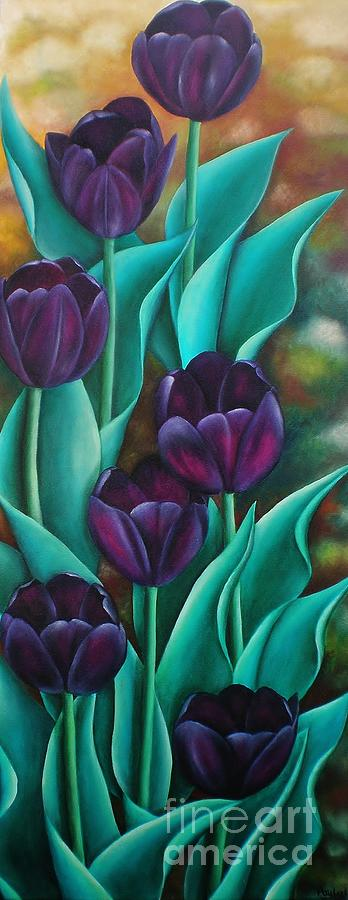 Tulips Painting - Tulips by Paula Ludovino