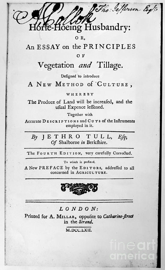 1762 Photograph - Tull: Title Page, 1762 by Granger