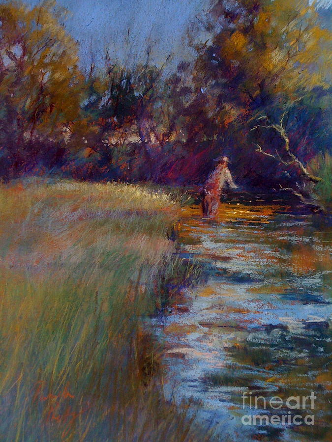 River Painting - Tumbling Waters by Pamela Pretty