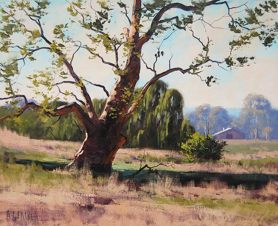 Gum Trees Painting - Tumut Gum by Graham Gercken